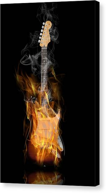 Stratocasters Canvas Print - Light My Fire by Peter Chilelli