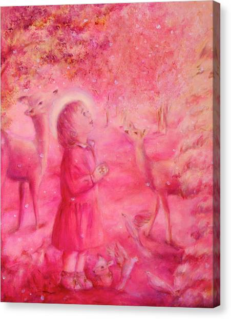 Light Of The Heart Canvas Print by Marija Schwarz
