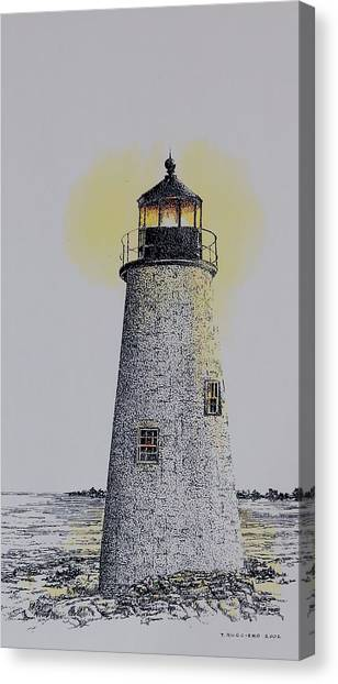 Light On The Sound Canvas Print