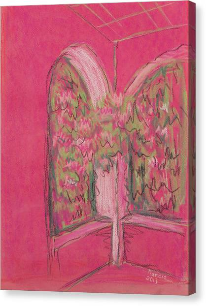 Light Pink Patio Canvas Print by Marcia Meade