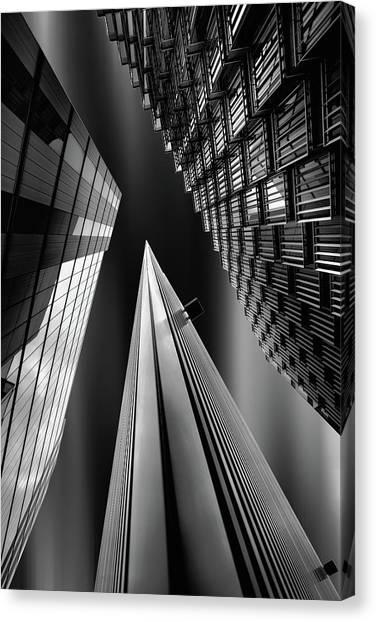 Triangles Canvas Print - Light Pyramid by Olavo Azevedo
