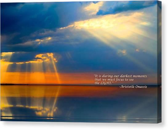 Light Quote Aristotle Onassis Canvas Print
