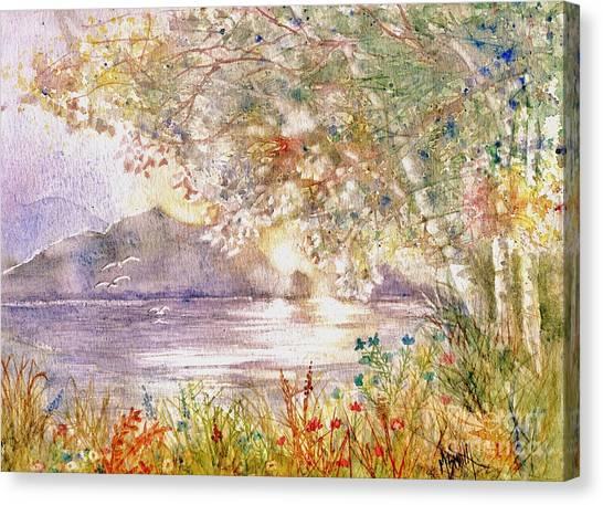 Light Through The Pass Canvas Print