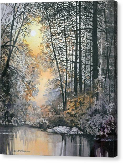 Light Through The Woods Canvas Print