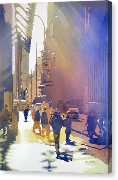 Stoplights Canvas Print - Light Traffic by Kris Parins