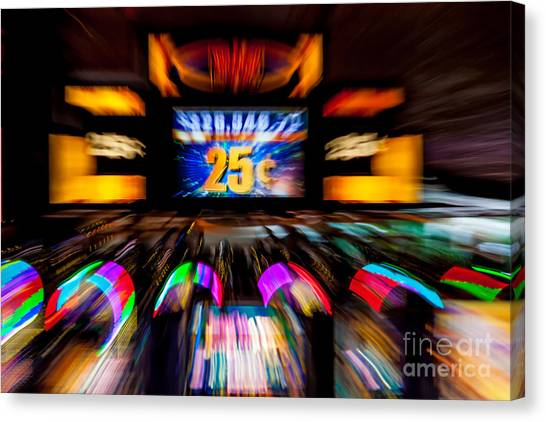 Light Trails Abstract 8 Canvas Print