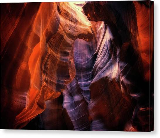 Canyon Canvas Print - Light Up Above by Randy Dietmeyer