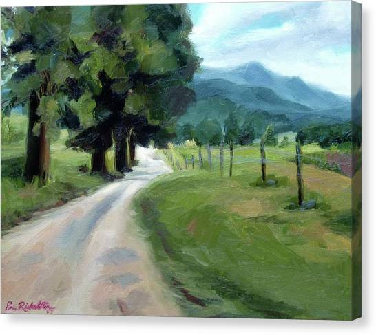 Lighted Path Of Cades Cove Canvas Print