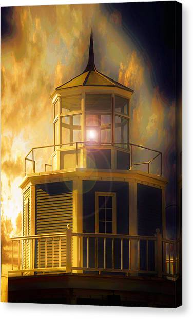 Storm Canvas Print - Lighthouse  by Aaron Berg