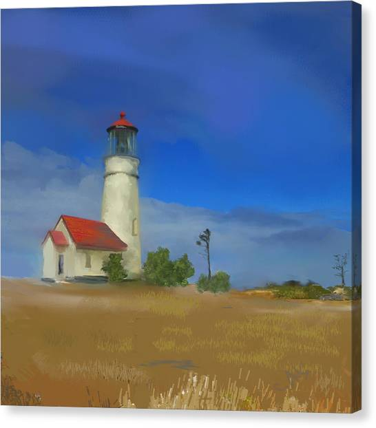 Lighthouse At Cape Blanco Canvas Print