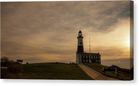 Lighthouse At Montauk Point, Long Canvas Print