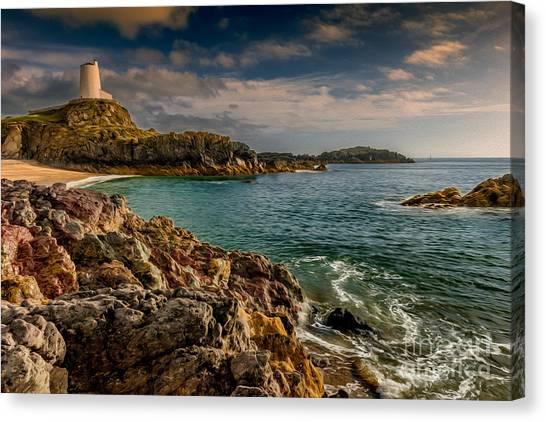 Beach Cliffs Canvas Print - Lighthouse Bay by Adrian Evans