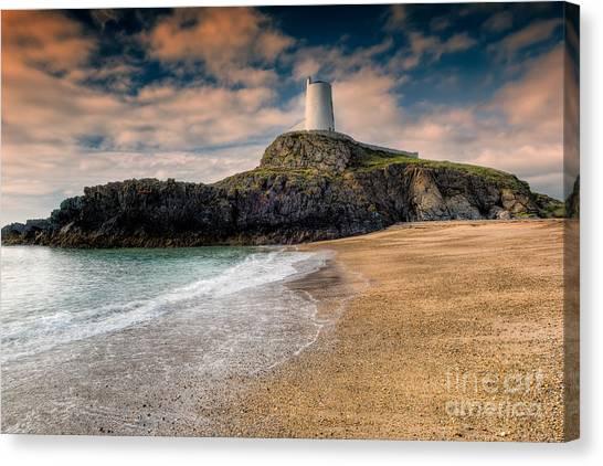 Beach Cliffs Canvas Print - Lighthouse Beach by Adrian Evans