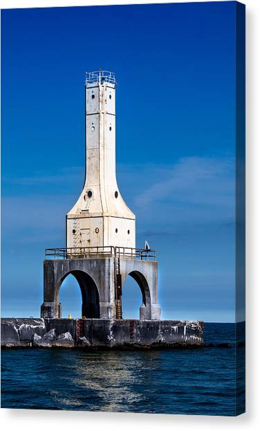 Lighthouse Blues Vertical Canvas Print
