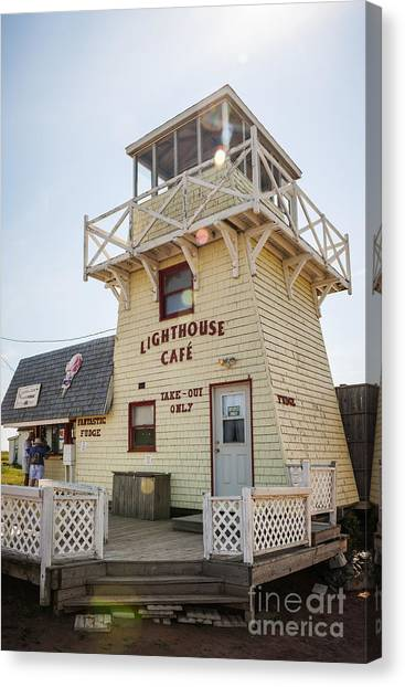 East Village Canvas Print - Lighthouse Cafe In North Rustico by Elena Elisseeva