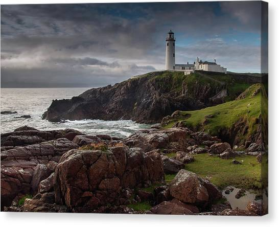 Cliffs Canvas Print - Lighthouse by Drago Cerovsek