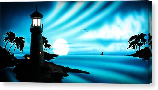 Lighthouse Canvas Print by Frank Parrish