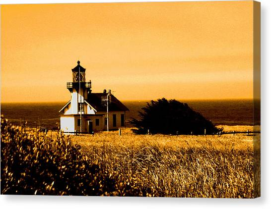 Lighthouse In Autumn Canvas Print