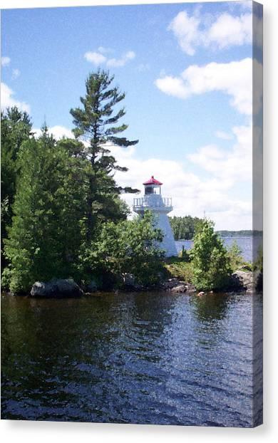 Lighthouse Island Canvas Print