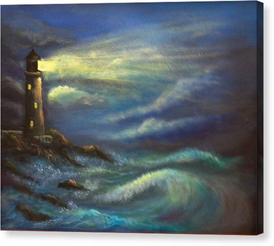 Lighthouse Lights Canvas Print