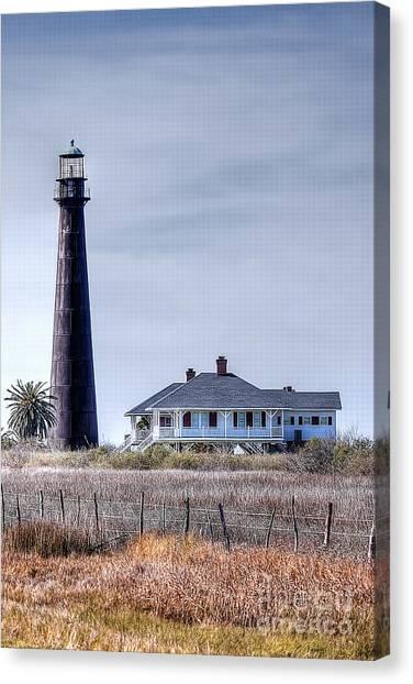 Lighthouse On Bolivar Peninsula Canvas Print