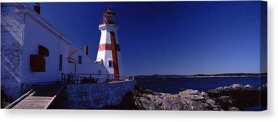 New Brunswick Canvas Print - Lighthouse On The Coast, Head Harbour by Panoramic Images