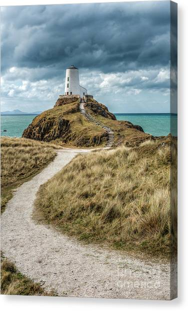 Path Canvas Print - Lighthouse Path by Adrian Evans