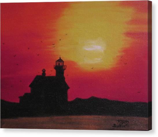 Lighthouse Silhouette Canvas Print