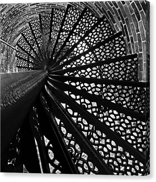 Lighthouse Spiral Canvas Print