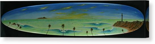 Lighthouse Surfers Cove Canvas Print