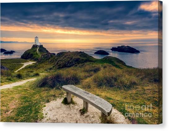 Llanddwyn Island Canvas Print - Lighthouse View by Adrian Evans