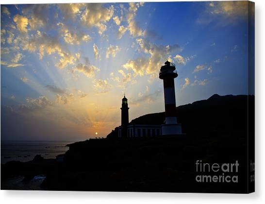 Abendrot Canvas Print - Lighthouses In Sunset by Fabian Roessler