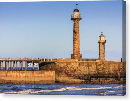 Lighthouses On The Piers Canvas Print