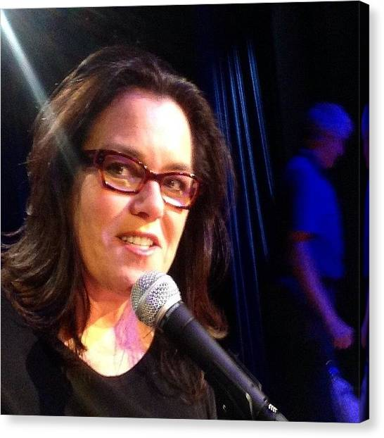 Canvas Print - Lighting Check For My Hbo Special by Rosie Odonnell