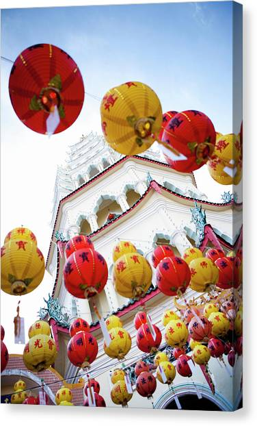 Chinese New Year Canvas Print - Lighting Of Kek Lok Si Temple by Matthew Micah Wright