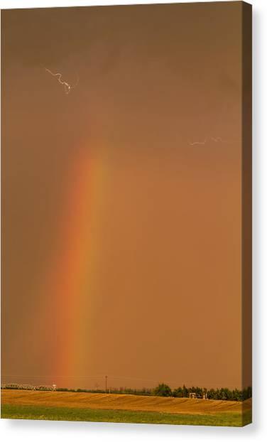 Lightning And Rainbow Canvas Print