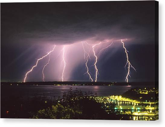 Lightning Canvas Print - Lightning by King Wu