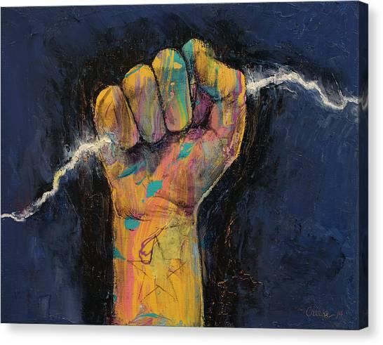 Blending Canvas Print - Lightning by Michael Creese