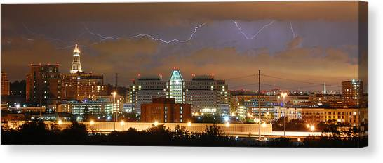 Lightning Over Alexandria Canvas Print