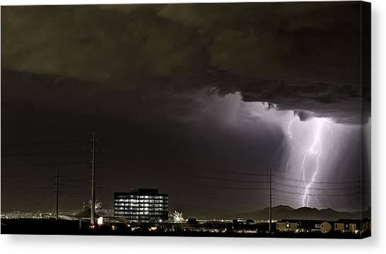 Lightning Over Las Vegas 2 Canvas Print