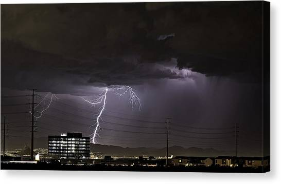Lightning Over Las Vegas Canvas Print