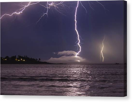 Lightning Over Prout's Neck Canvas Print