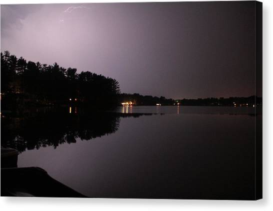 Lightning Over Water Canvas Print by Sarah Klessig