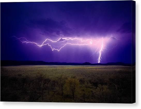 Lightning Serengeti Canvas Print