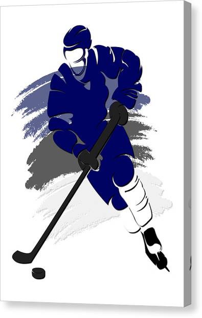 Tampa Bay Lightning Canvas Print - Lightning Shadow Player2 by Joe Hamilton