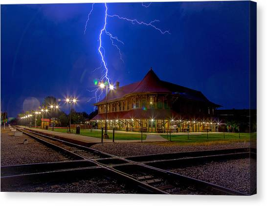 Lightning Show Canvas Print