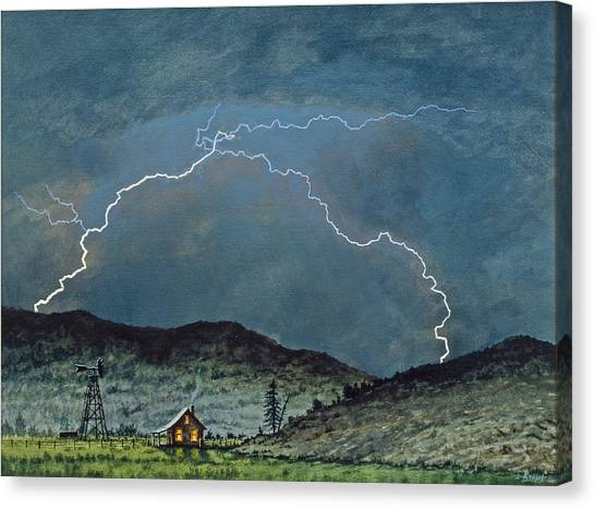 Lightning Canvas Print - Lightning Storm   by Paul Krapf
