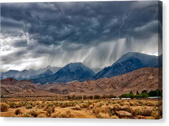 Storms Canvas Print - Lightning Strike by Cat Connor