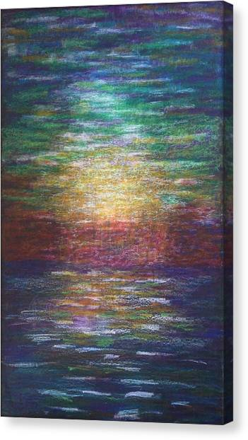 Canvas Print featuring the painting Lightpicture 357 by SOBATA Satosi