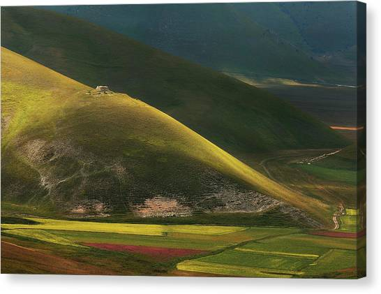 Farm Landscape Canvas Print - Lights And Shadows by Edoardo Gobattoni